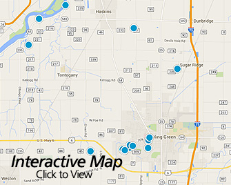 Interactive Map of Bowling Green Area Homes for Sale