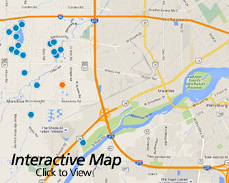 Interactive Map of Maumee Ohio Area Homes for Sale