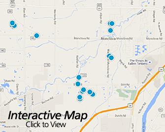 Interactive Map of Monclova Ohio Area Homes for Sale