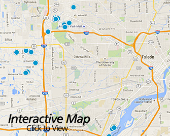 Interactive Map of Toledo Ohio Area Homes for Sale