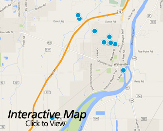 Interactive Map of Waterville Ohio Area Homes for Sale