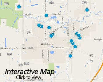 Interactive Map of Whitehouse Ohio Area Homes for Sale