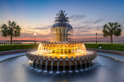 Visit the Pineapple Fountain when in Charleston