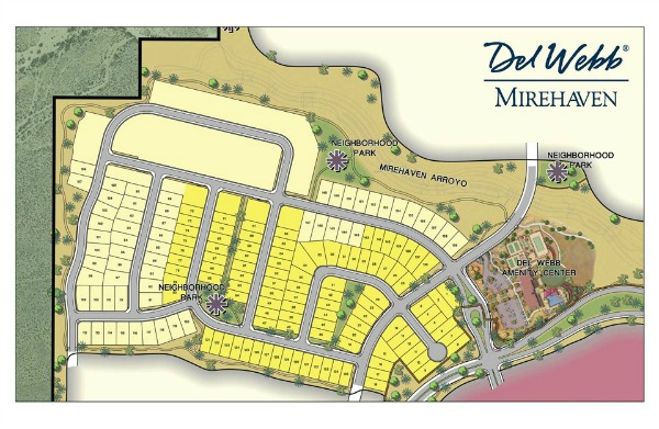Map of Del Webb's Mirehaven Neighborhood