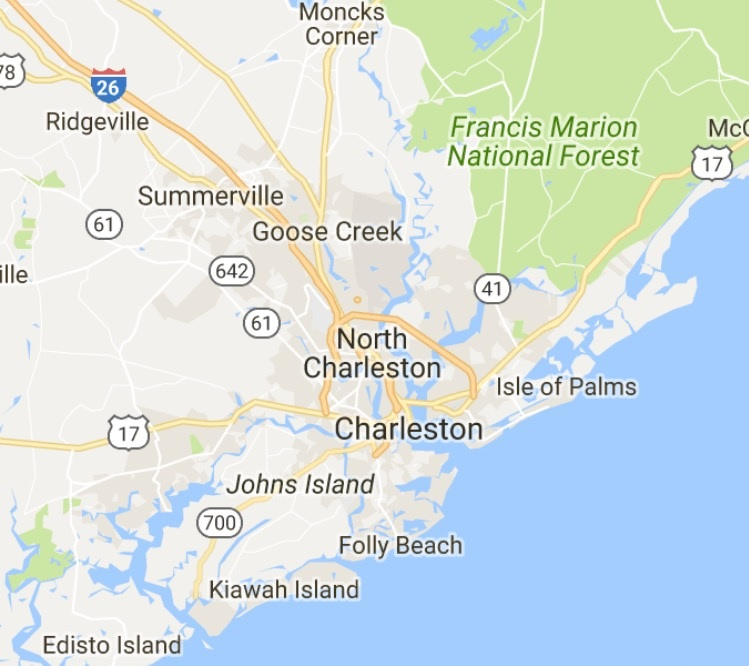 Interactive Charleston Area Map Search