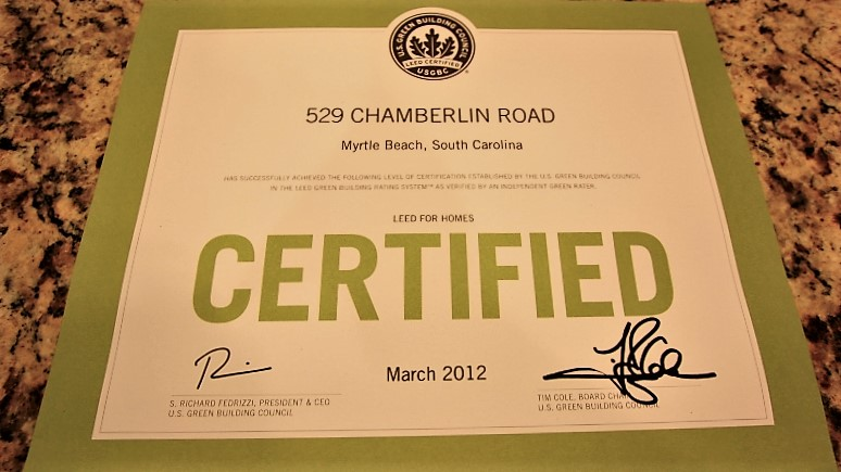 Green Certified Homes Myrtle Beach SC