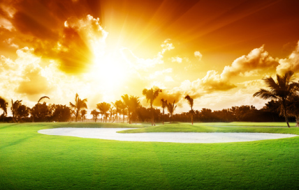Golfing is a passion for many and when the Sun goes down.. these greens turn into a miraculous sight of pure unwavering beauty
