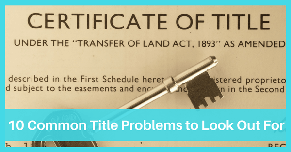Image of 10 Common Title Problems