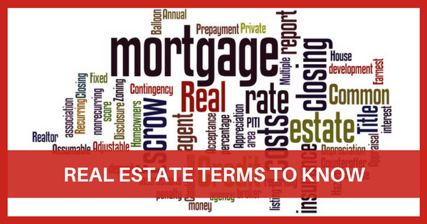 Image of Real Estate Terms to KNow
