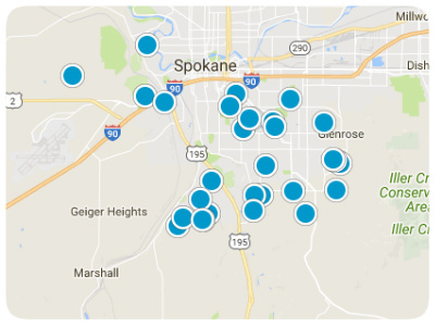 Spokane Real Estate Map Search