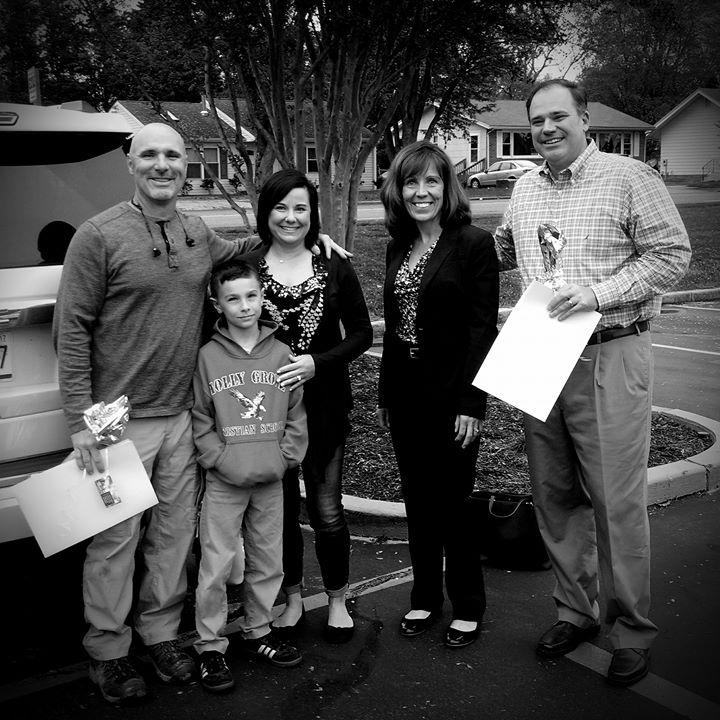 Happy clients after a farm settlement
