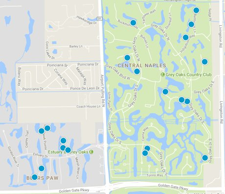 Grey Oaks Home Map Search