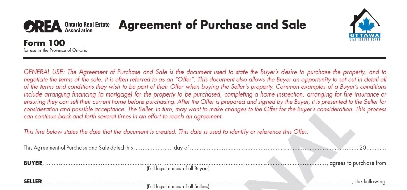 how to cancel a real estate contract in ontario