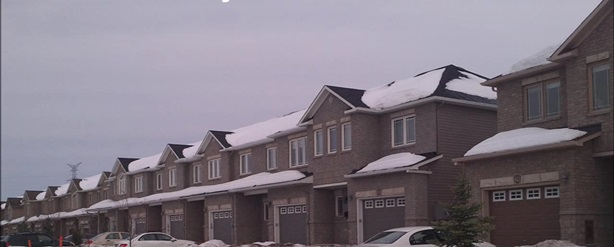 Row of townhomes in Bradley Estates