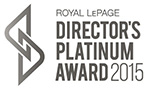 Royal LePage Directors Platinum Award 2015
