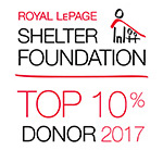 Royal LePage Shelter Foundation Top 10 Donor
