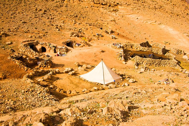 Atlas Mountain Nomadic People Camp