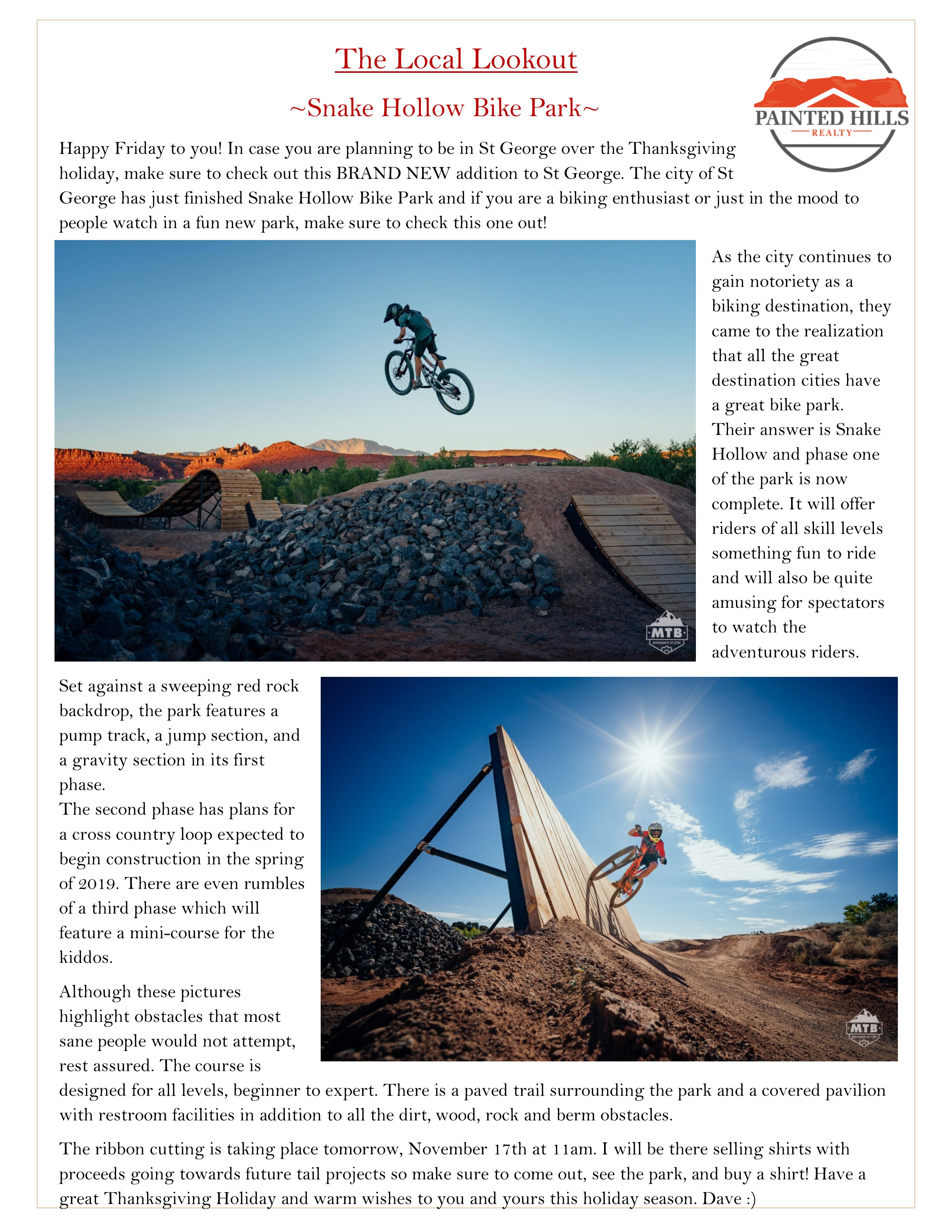The Local Lookout- Snake Hollow Bike Park