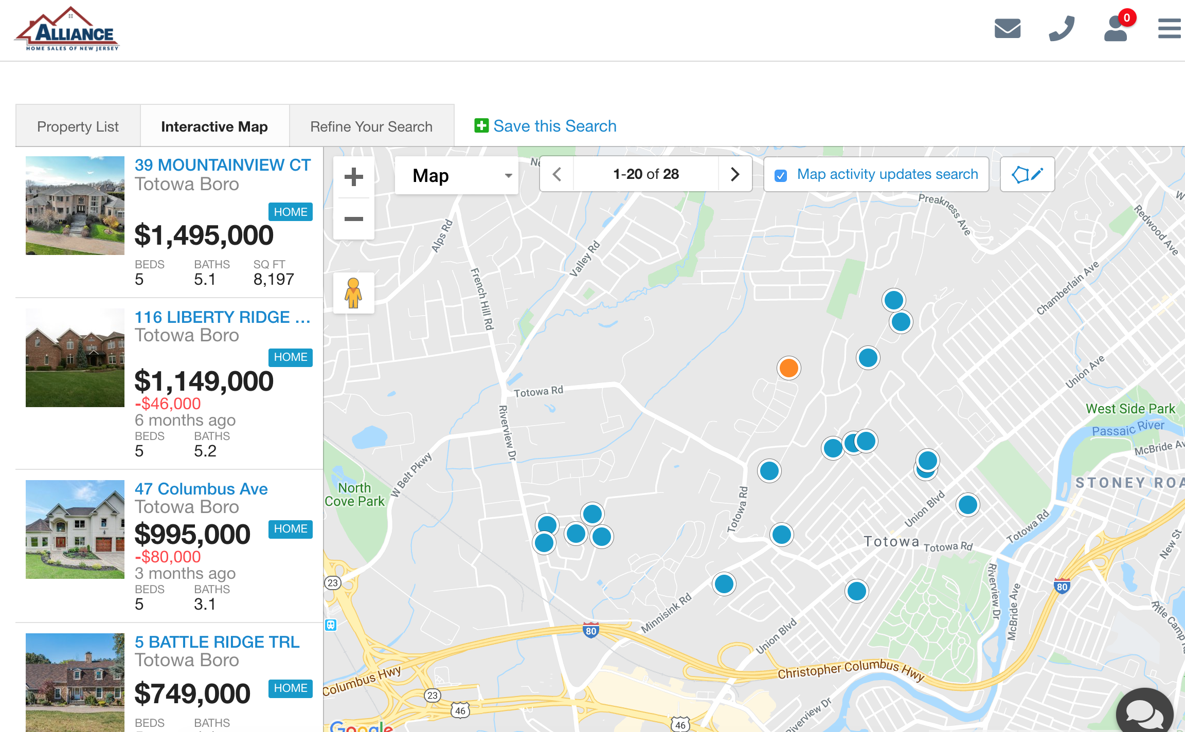 Totowa NJ 07512 MLS Listings Map Search