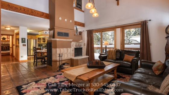 Homes for Sale in Tahoe Donner CA - Relax and entertain in the warm and inviting living room of this Tahoe Donner CA home for sale.