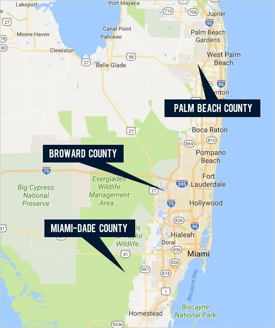 Find your next home in Miami-Dade, Broward, and Palm Beach Counties