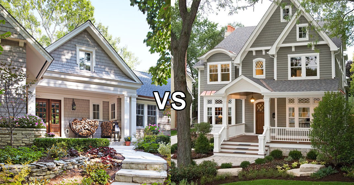 Single Story Home vs Two Story Home