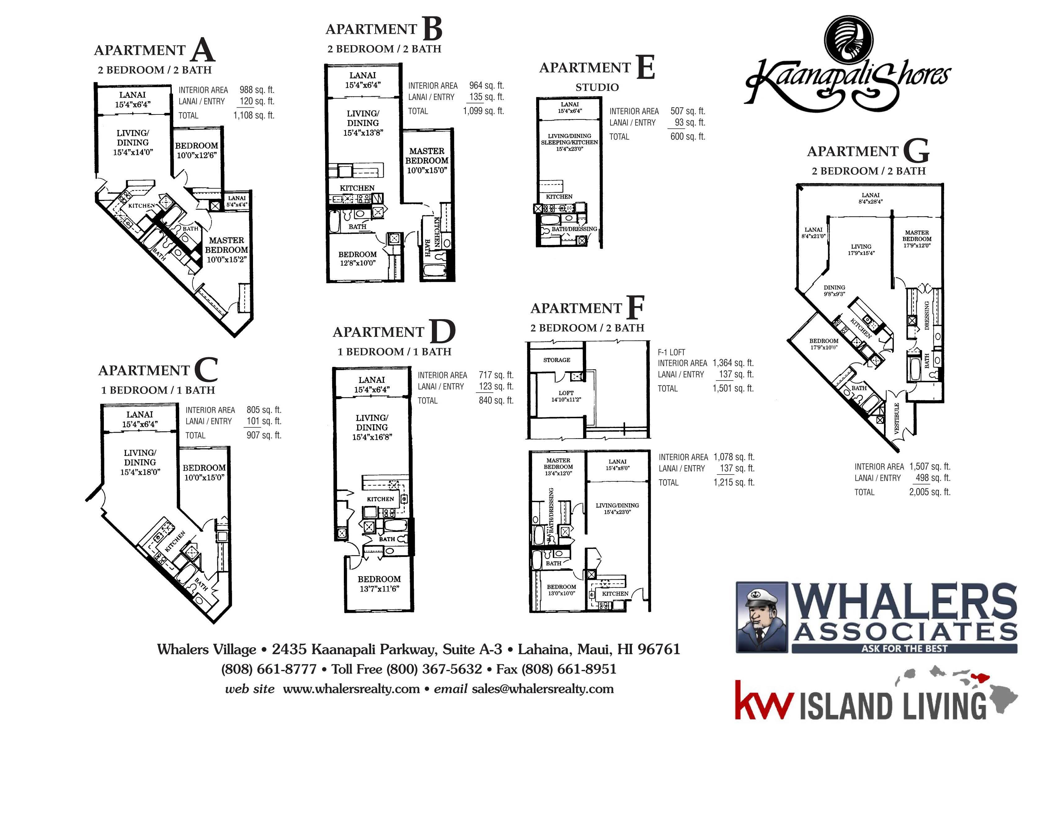 Kaanapali Shores Floor Plan