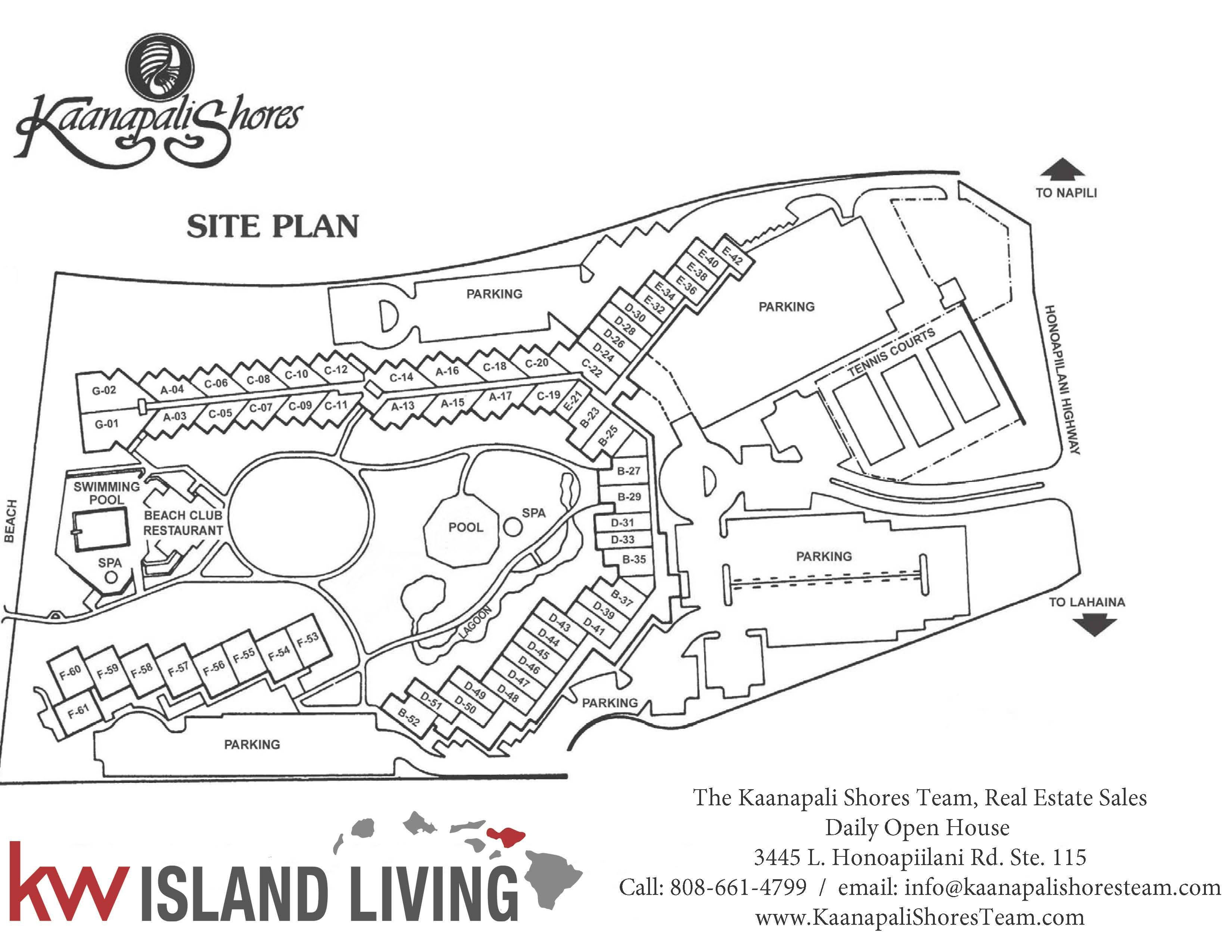 Kaanapali Shores Site Plan