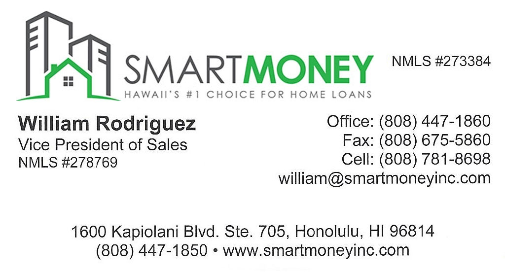 William Rodriguez, Honolulu, Hawaii Mortgage Lender
