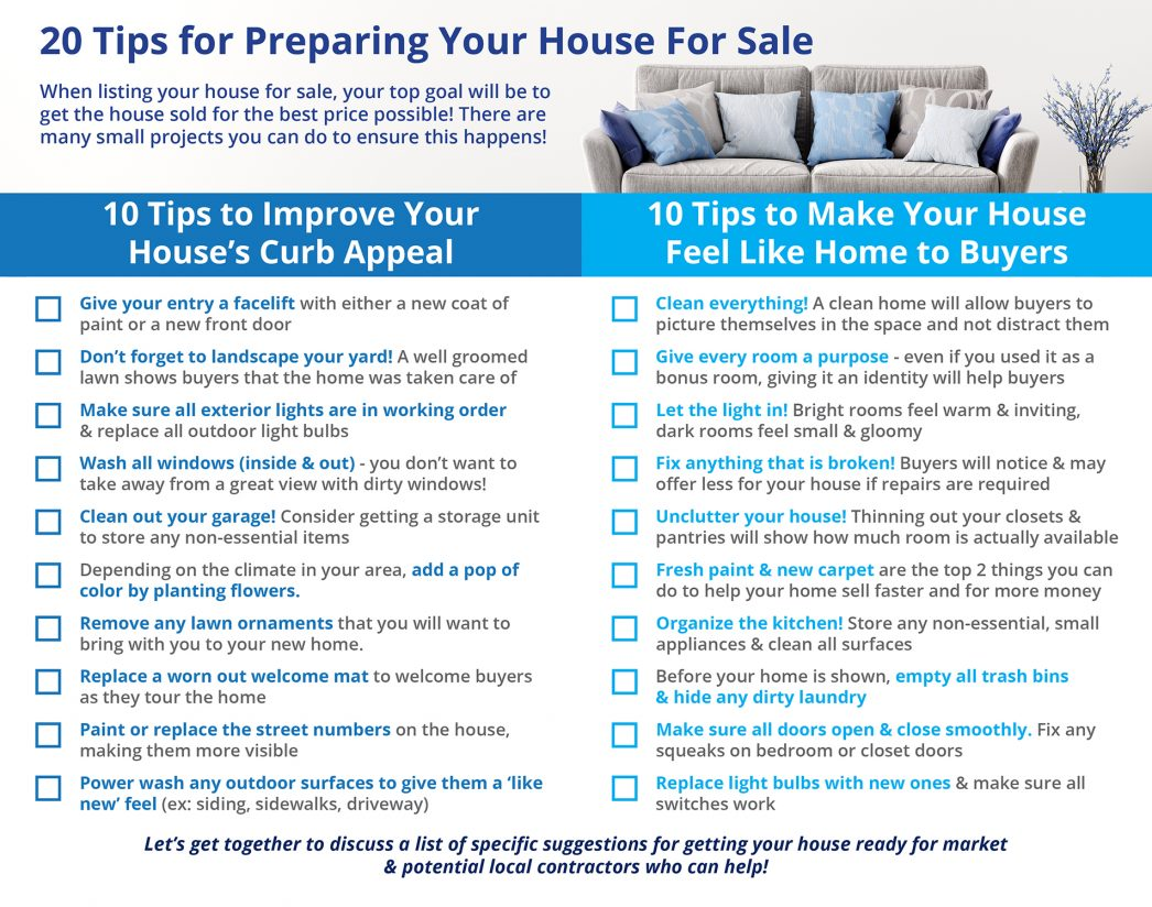 20 Tips for Preparing Your House for Sale This Spring [INFOGRAPHIC] | MyKCM