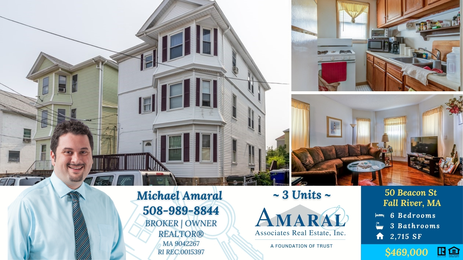 NEW LISTING ~ 50 Beacon St, Fall River, MA ~ $469,000