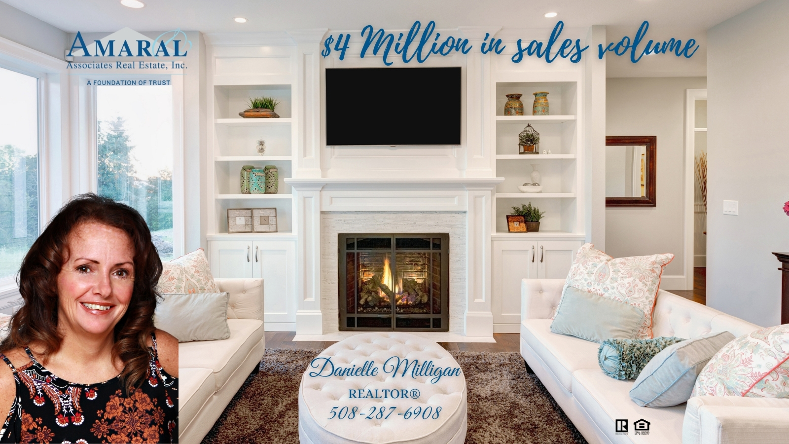 Congratulations to Danielle Milligan on reaching $4 Million in sales volume so far this year!