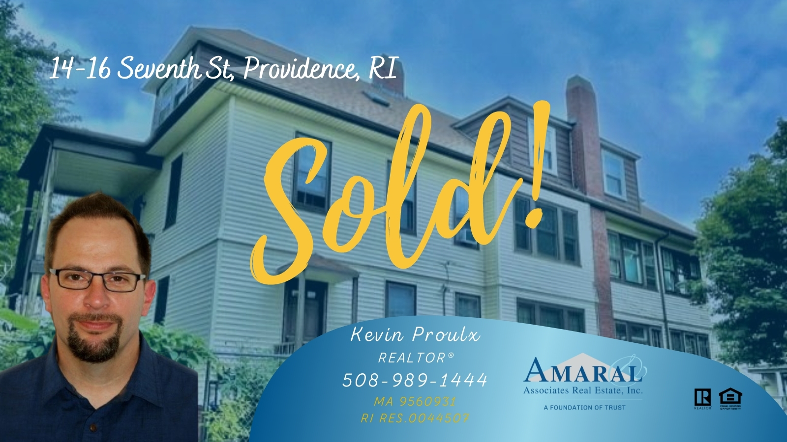 SOLD with Kevin Proulx! 14-16 Seventh St, Providence RI