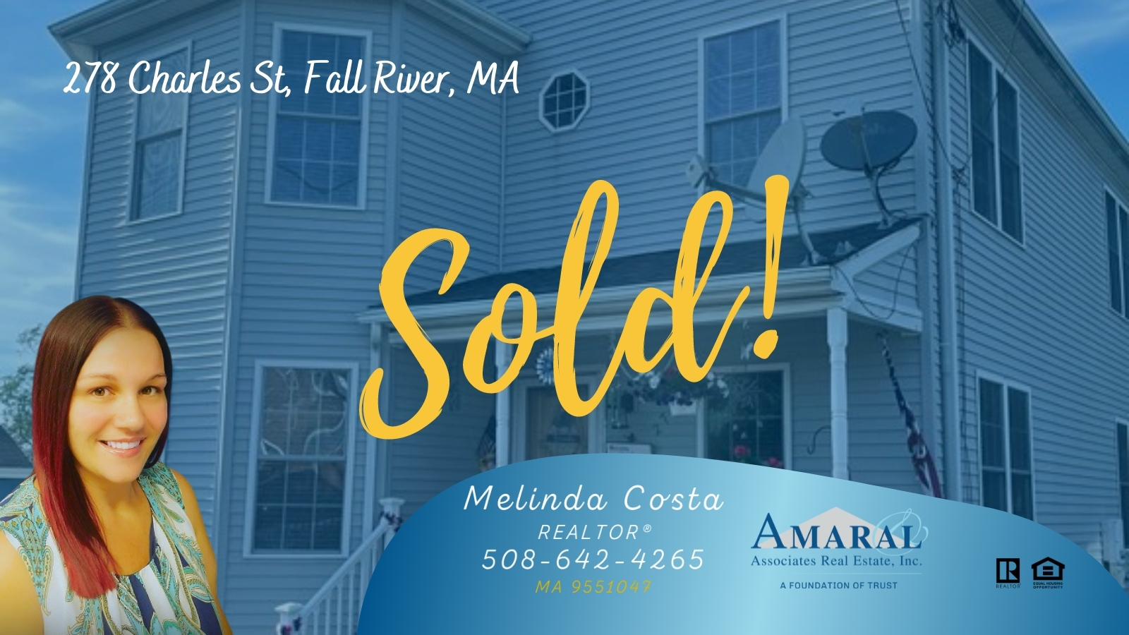SOLD with Melinda Costa! 278 Charles St, Fall River, MA