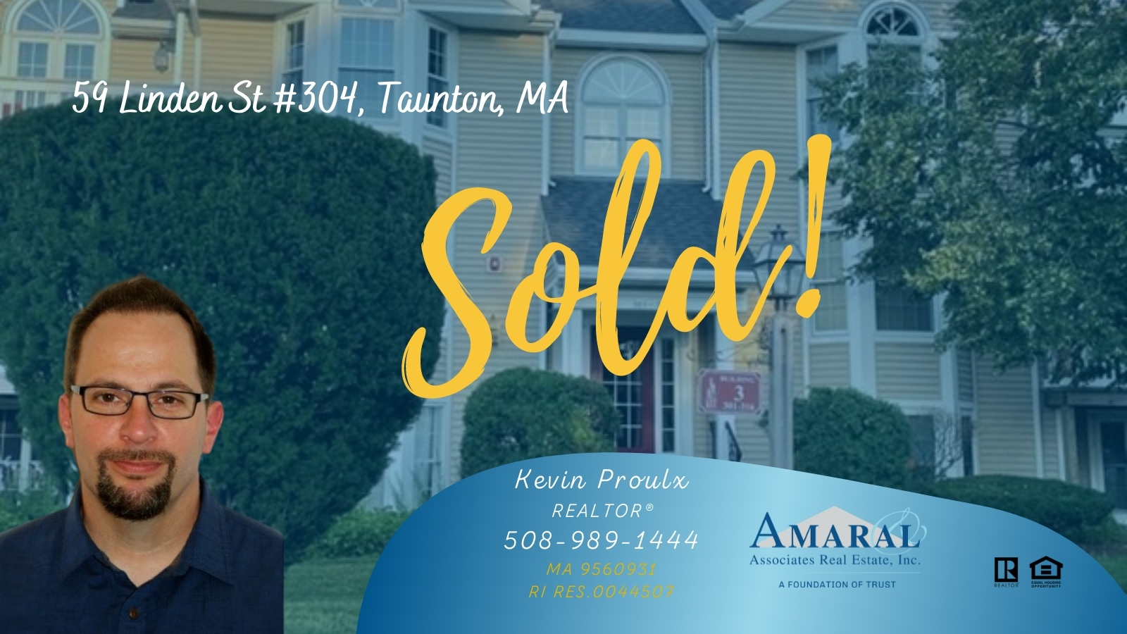 SOLD with Kevin Proulx! 59 Linden St #304, Taunton, MA
