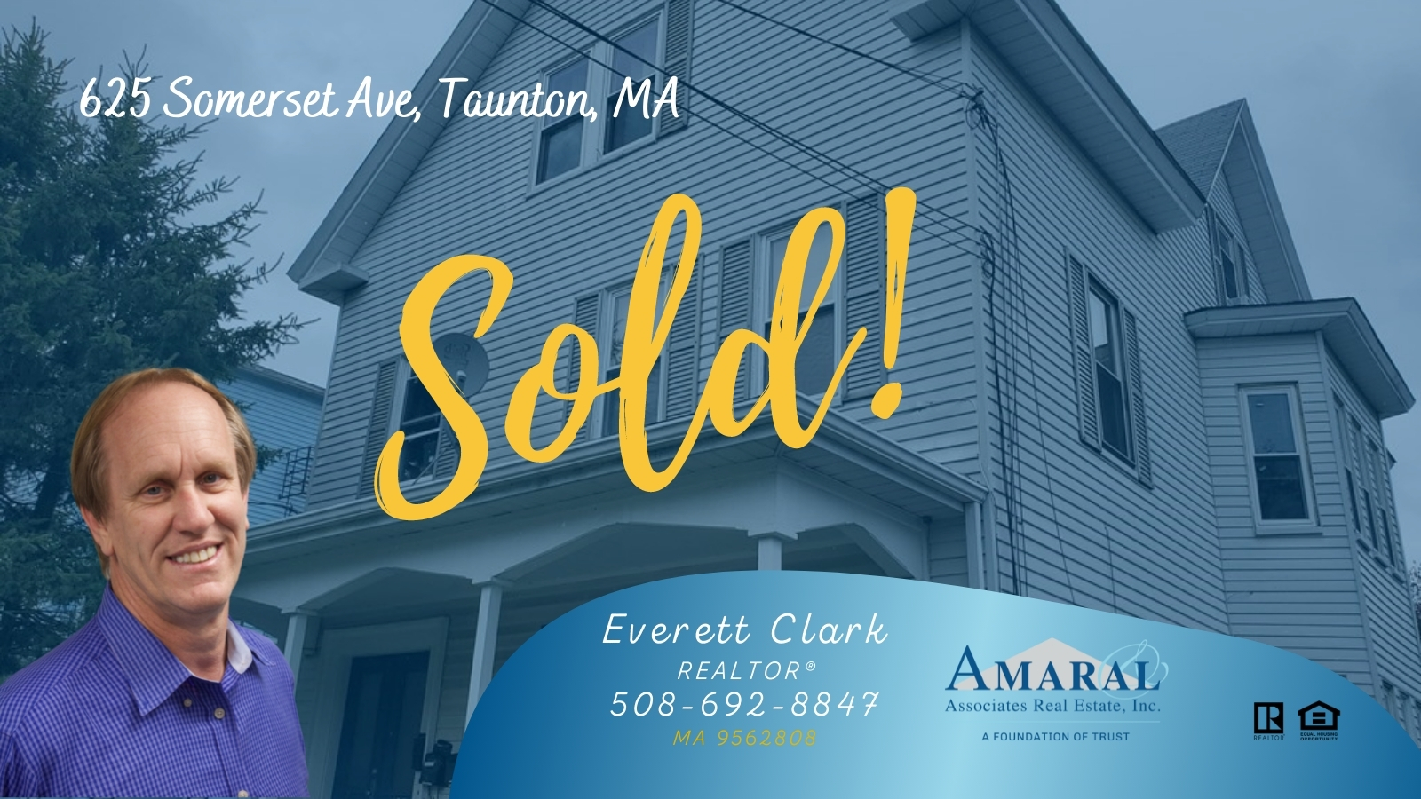 SOLD with Everett Clark! 625 Somerset Ave, Taunton, MA