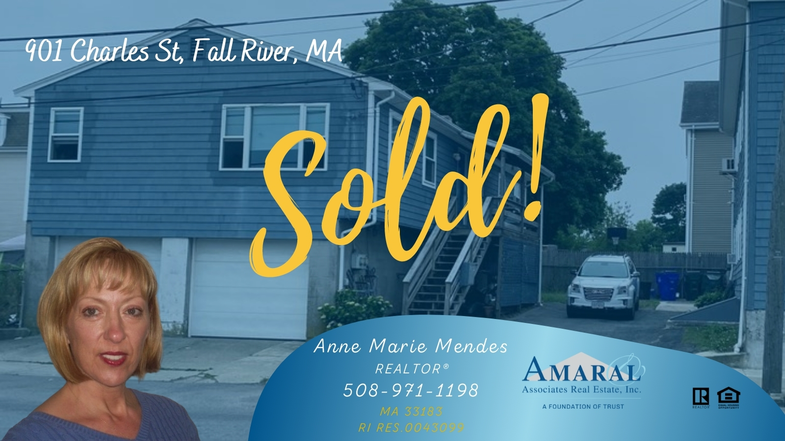 SOLD with Anne Marie Mendes! 901 Charles St, Fall River, MA