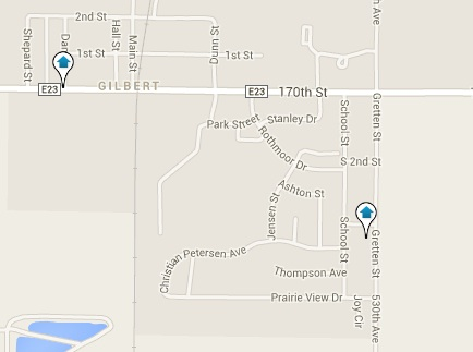 Gilbert Homes for Sale Map Search Results