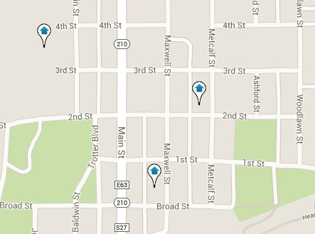 Maxwell Homes for Sale Map Search Results
