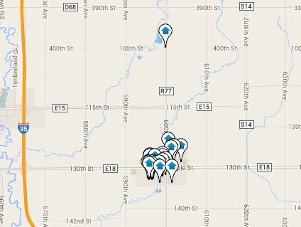 Roland Homes for Sale Map Search Results
