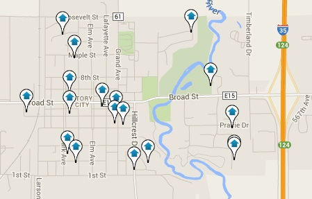 Story City Homes for Sale Map Search Results