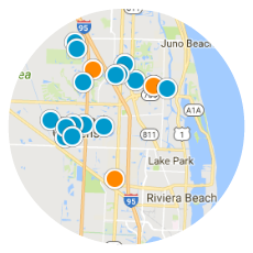 Search for new homes by map