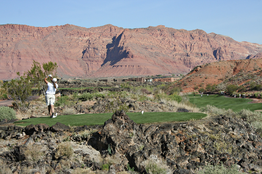 Play golf on Las Vegas real estate.