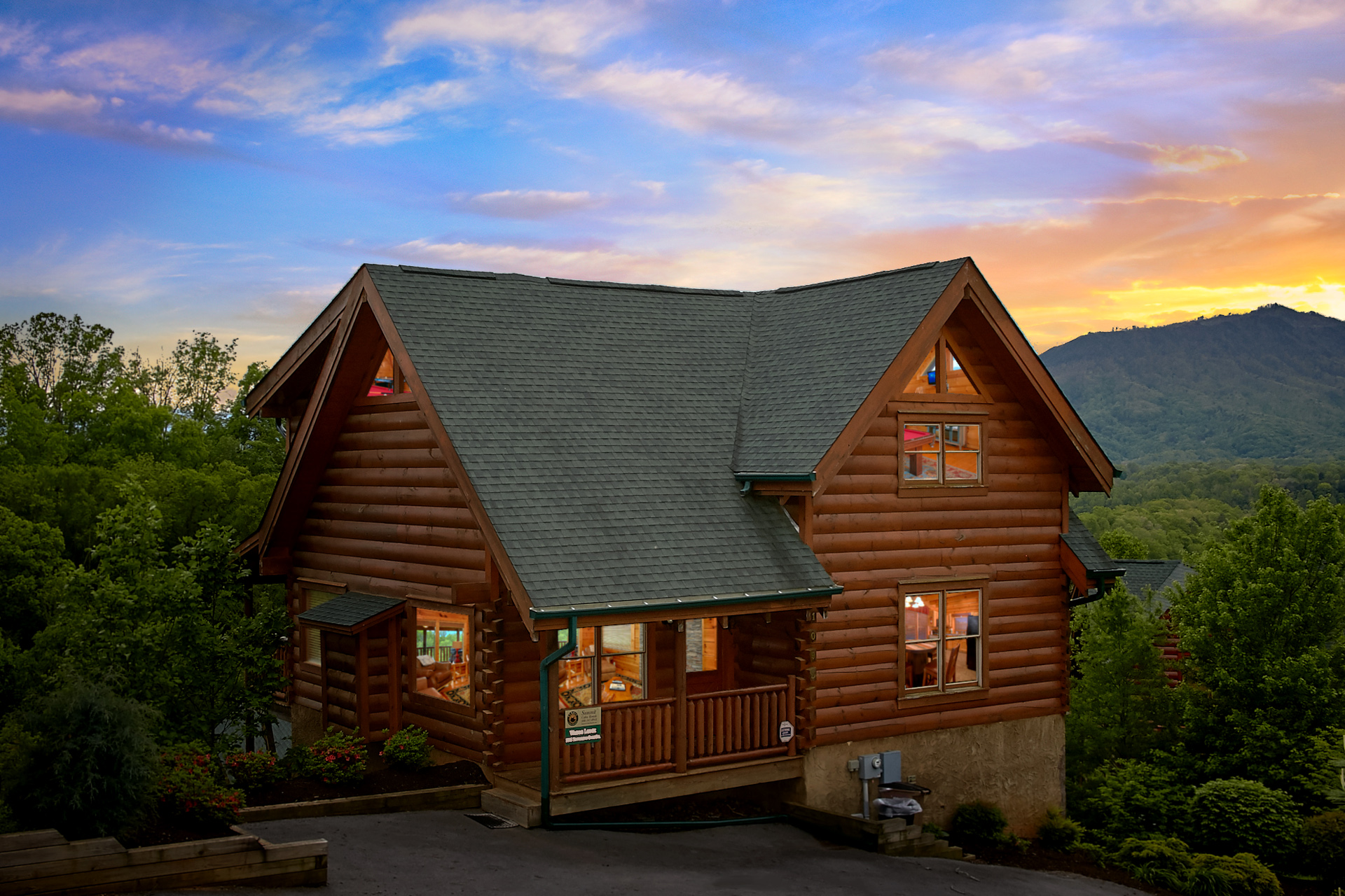 one cabins pige rentals tennessee resorts affordable cheap bedroom s cabin gatlinburg