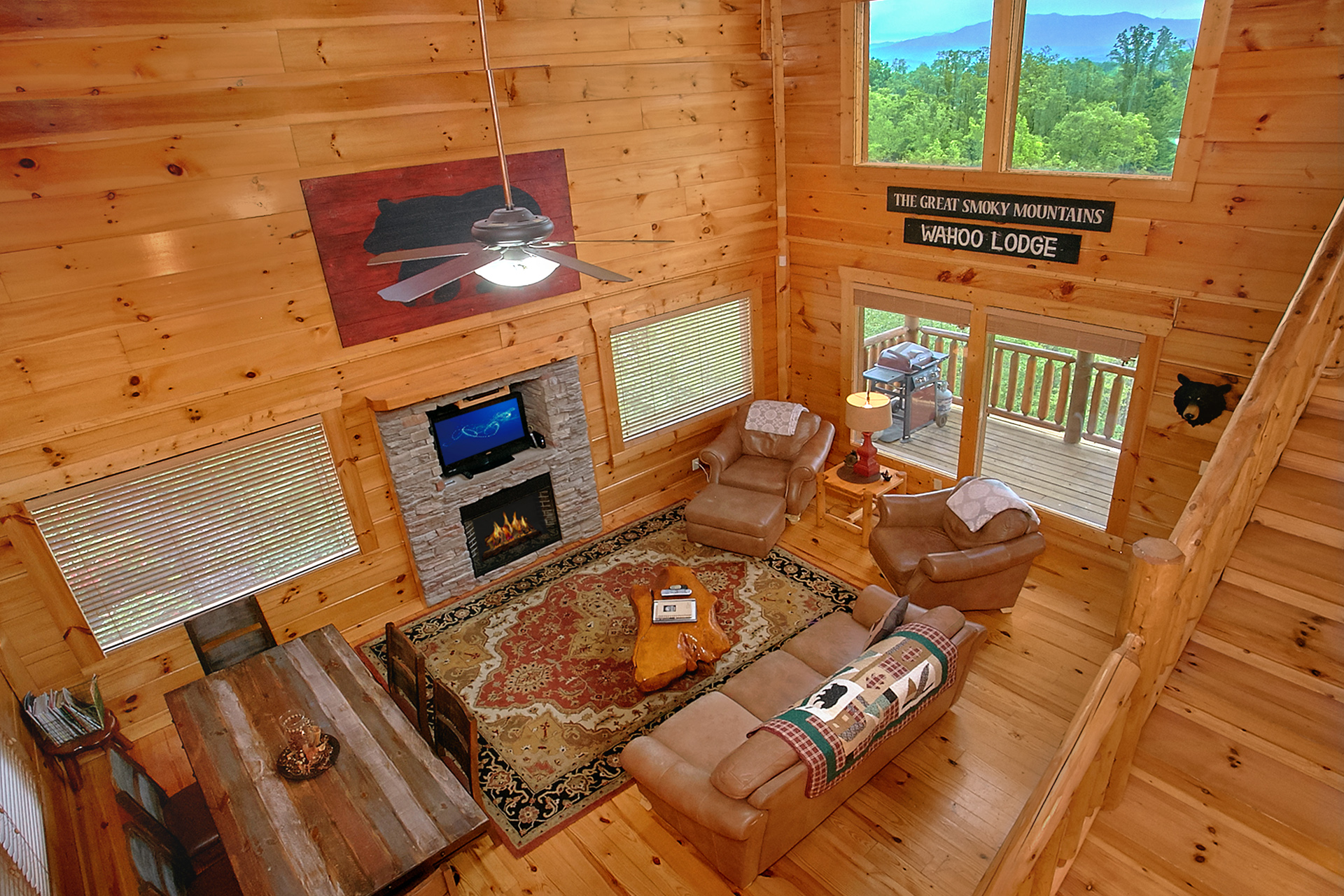 in about kitchen inside smoky mountains great mountain cabin blog log myths rentals renting view grand cabins