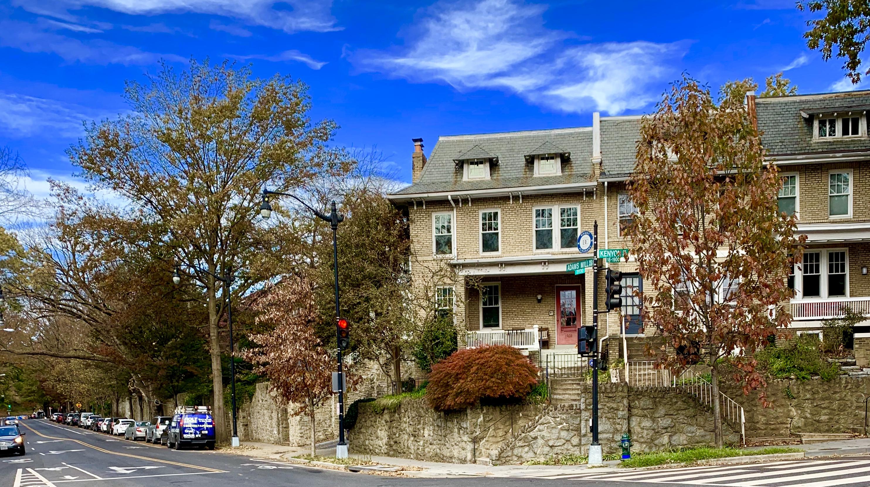 Craftsman Homes in Washington, DC. Adams Mill Rd in Mount Pleasant