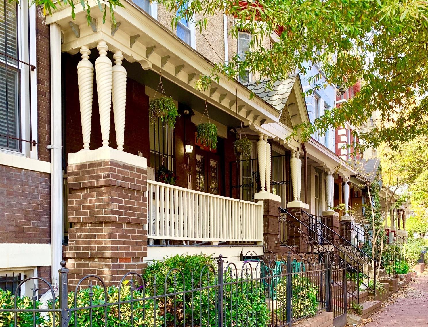 Craftsman Homes in Washington, DC. Anna J Cooper Circle in LeDroit Park