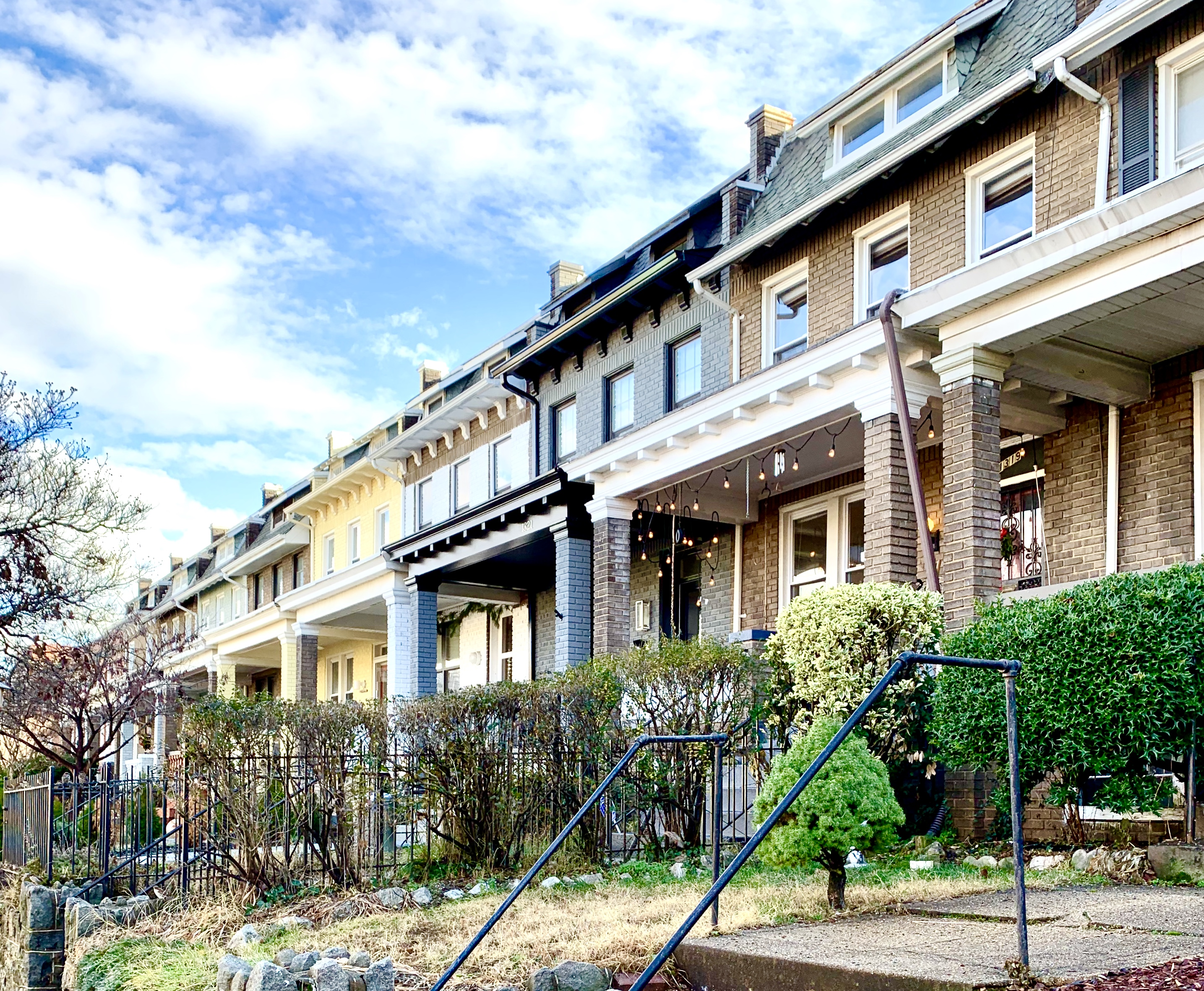 Craftsman Homes in Washington, DC. E Street NE in Capitol Hill