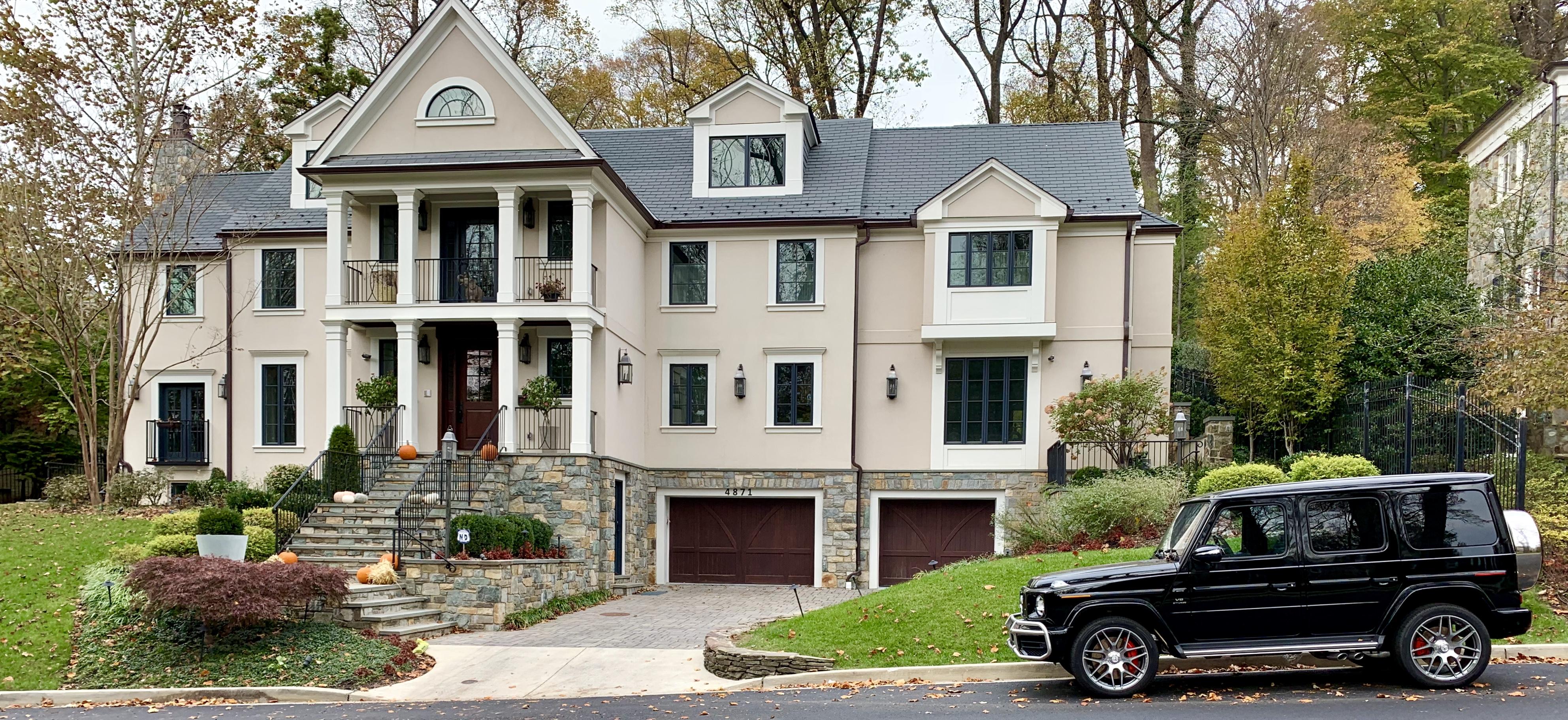 Craftsman Homes in Washington, DC. Glenbrook Road in Spring Valley