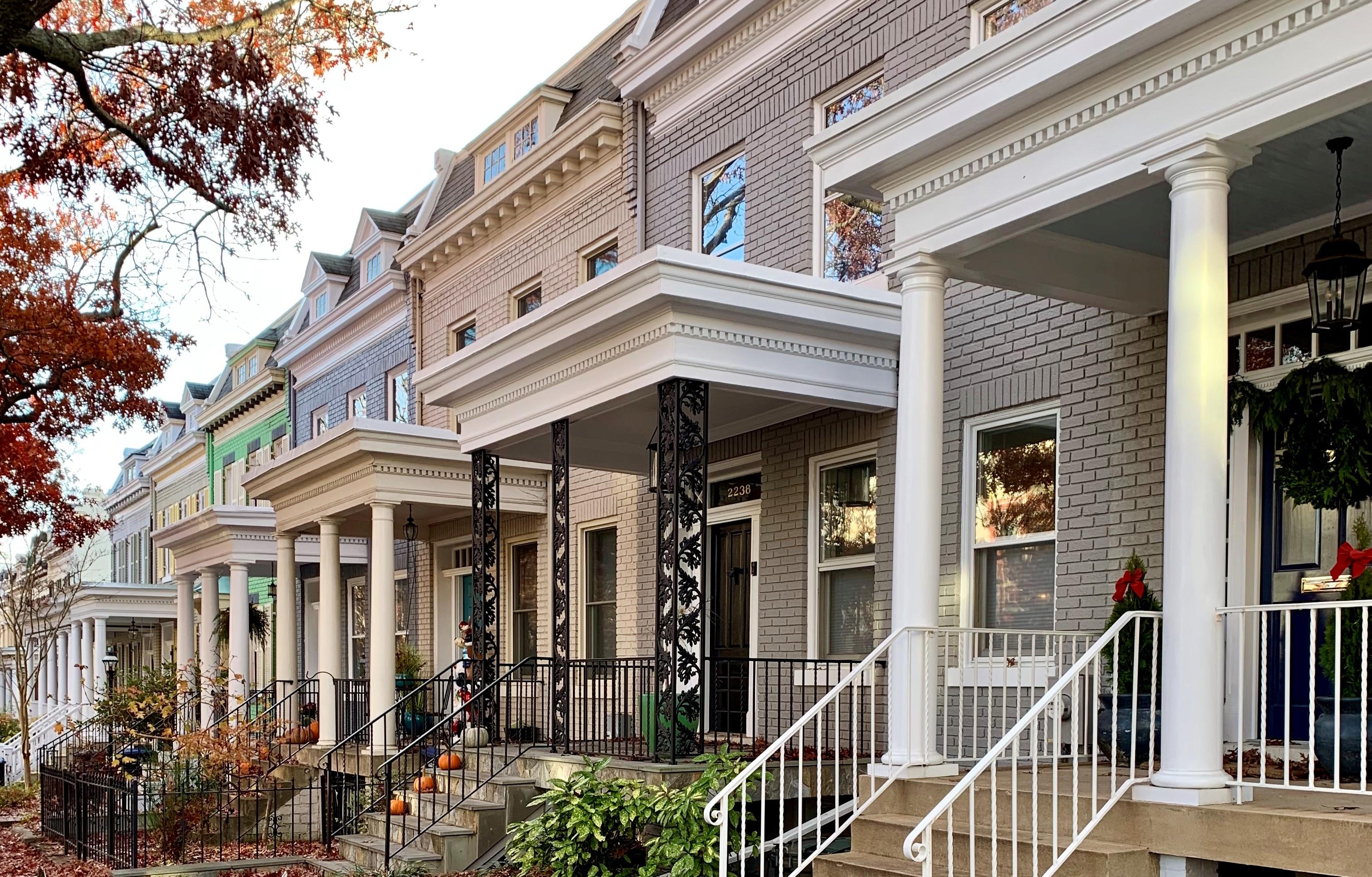 Craftsman Homes in Washington, DC. Hall Pl in Glover Park